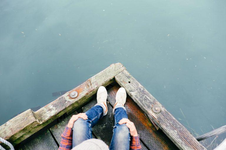 Czekając na łódce